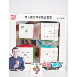 Paket Rubik Qiyi Gift Set 2x2 3x3 4x4 5x5 Stickerless