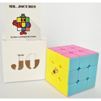 3x3 Jocubes Stickerless Pink Speedcube
